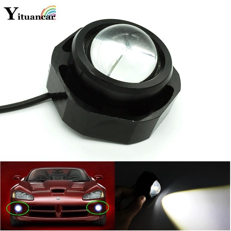 Yituancar 1Pcs 30W DRL Eagle Eye Flash LED Daytime Running Light 180LM Car Styling Warning Fog Lamp Reverse Brake Parking Lamps
