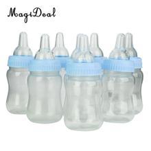 MagiDeal 24pcs/Lot Milk Bottles Candy Bottles Baptism Christening Baby Shower Party Favors Gifts Pink/Blue