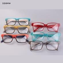 Прозрачные серые квадратные очки компьютерные женские красочные