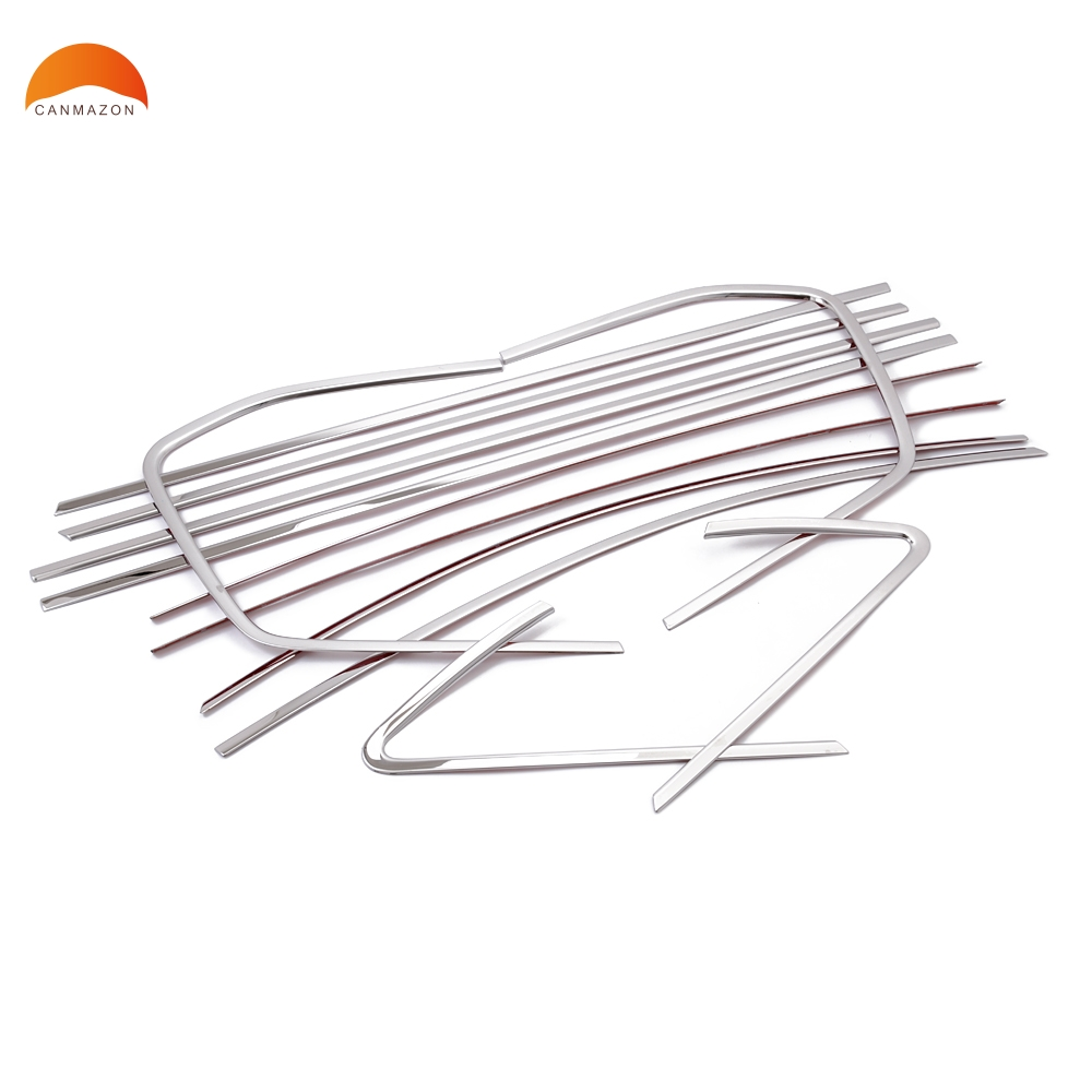 For VW Volkswagen Touran 2016 2017 Stainless Steel Car Styling Window Trim Decoration Strips Auto Accessories 12PCS/SET car styling stainless steel for volkswagen polo window trim without center pillar decoration strips