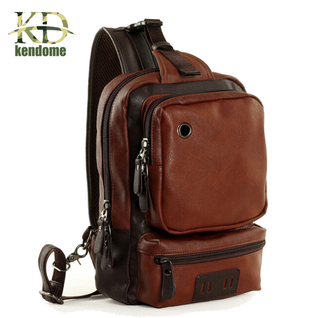 2018 New High Quality PU Leather Men Fitness Gym Bag Sport Bags Male Travel Chest