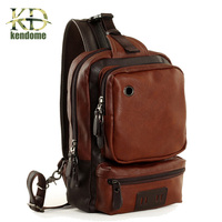 2018 New High Quality PU Leather Men Fitness Gym Bag Men Sport Bags Male Travel Chest Bag Earphone Hole XJ309