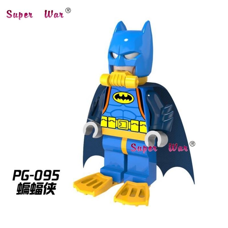 1PCS  Superhero Suc Batman Marvel Avengers Building Blocks Action  Sets Model Bricks Toys For Children