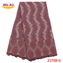 Нигерийские кружевные ткани 2018 африканская швейцарская вуаль