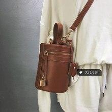 2017 Новая Мода Трехмерная Резьба Ведро мешок застежки-молнии женская сумочка на ремне сумки мешок мобильного телефона