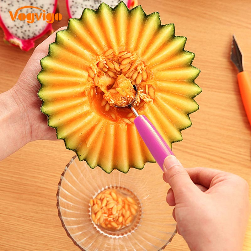 VOGVIGO Ice cream dig spoon spoon DIY assorted cold cuts tools watermelon melon knife knife fruit gadget