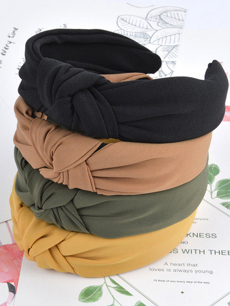 1pc Fashion Bow Knot Sport Hairbands Women Headwear Turban Hair Head Hoop Yoga Simple Sweet Girls Hair Headband Hair Accessories(China)