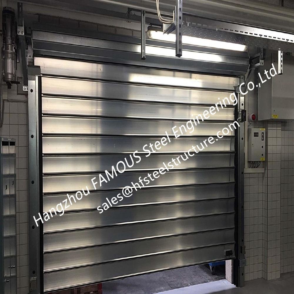 Profils d'extrusion en aluminium porte de levage ignifuge de porte de rouleau évaluée par feu avec des ouvre-portes électriques