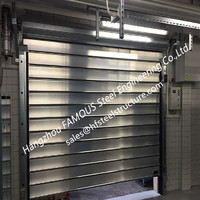Aluminum Extrusion Profiles Fire Rated Roller Door Fireproof Lifting Door With Electric Openers