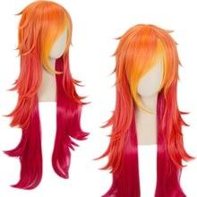 Sıcak satış 100cm LOL peruk özledim Fortune peruk yıldız Guardian Cosplay kostüm saç peruk yetişkin kadın kız
