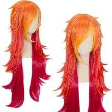 Venda quente 100cm lol peruca miss fortuna peruca estrela guardião cosplay traje peruca de cabelo adulto feminino menina
