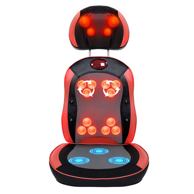 2017 Heating Rolling Kneading Back Massager Shiatsu Massage Cushion Infrared Chair Cover