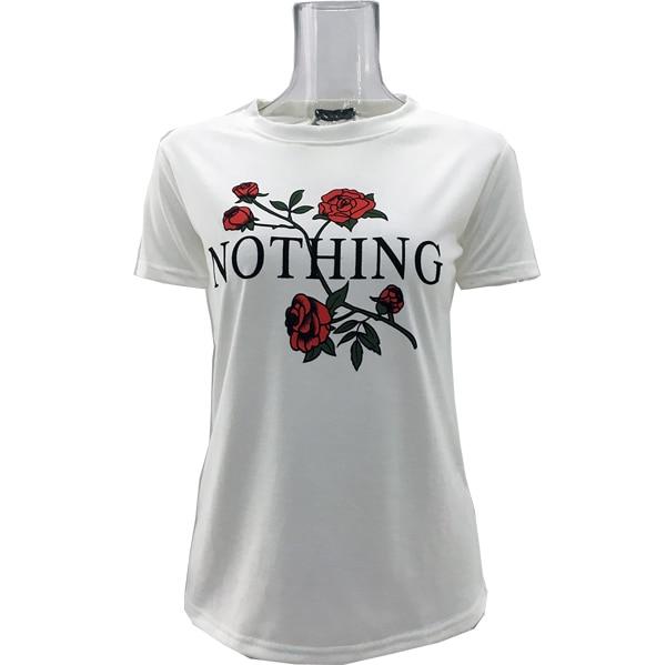 4aa441bb23f Women T-shirt Flower Printed T shirt 2017 Summer Games Of Thrones Women T  Shirt Camisetas Mujer for women White Grey