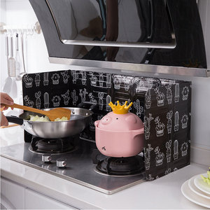 Image 2 - Aluminum Foldable Kitchen Gas Stove Baffle Plate Kitchen Frying Pan Oil Splash Protection Screen Kichen Accessories