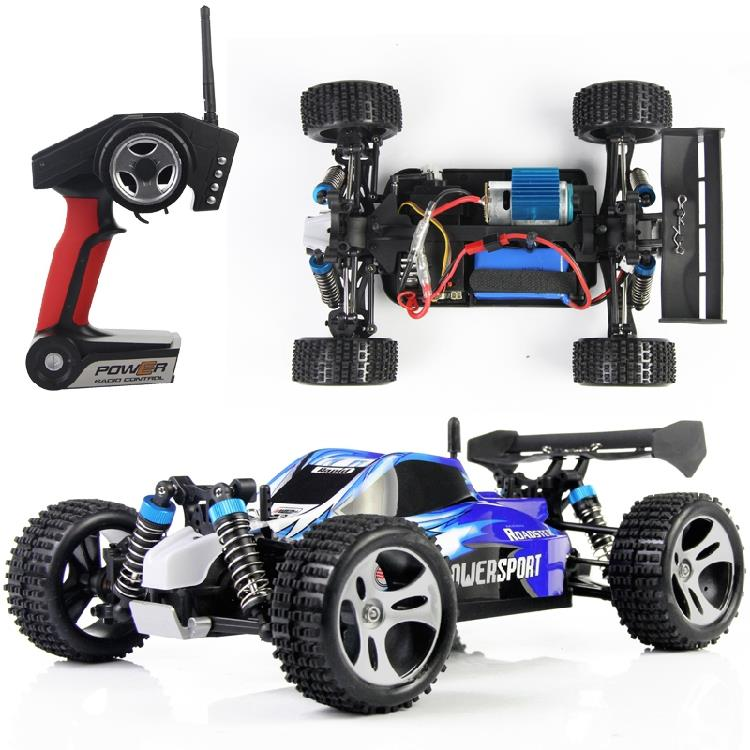 Hed! Wltoys A959 2.4G 4CH 4WD Shaft Drive RC Bil High Speed ​​Stunt Racing Bil Fjernbetjening Super Power Off-Road Vehicle Car