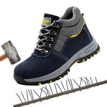 Весна и осень Высокая защитная Рабочая обувь Мужчины стали Baotou небьющееся проколов рабочая обувь защитная обувь.