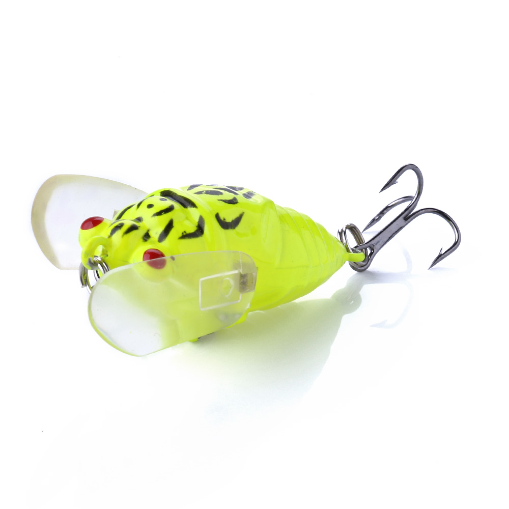 1PCS Cicada Lure Crankbait 6G 4.5cm Floating Perch Fishing Tackle Hard Wobblers Accessorie