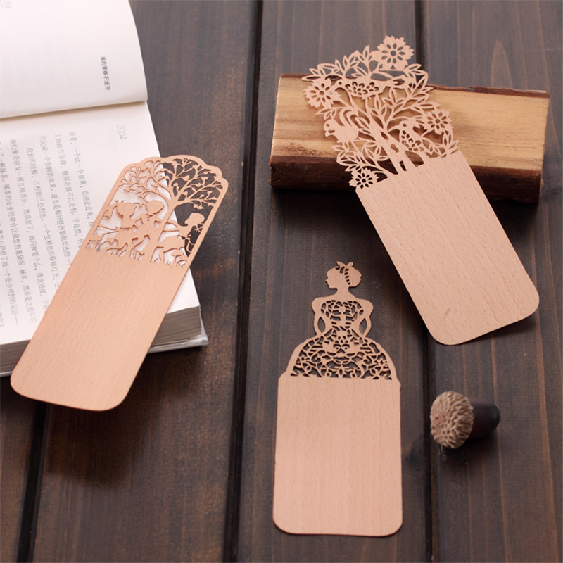 Creative Vintage Hollow Wooden Bookmark Lovely Girl Bookmarks For Book Novelty Item Korean Stationery Office School Supplies 4pcs lot creative help me bookmark funny books mark novelty page holder stationery office school supplies gift free shipping