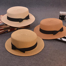 Fashion Parent-child sun hat Cute children sun hats bow hand made women straw cap beach big brim hat casual glris summer cap(China)