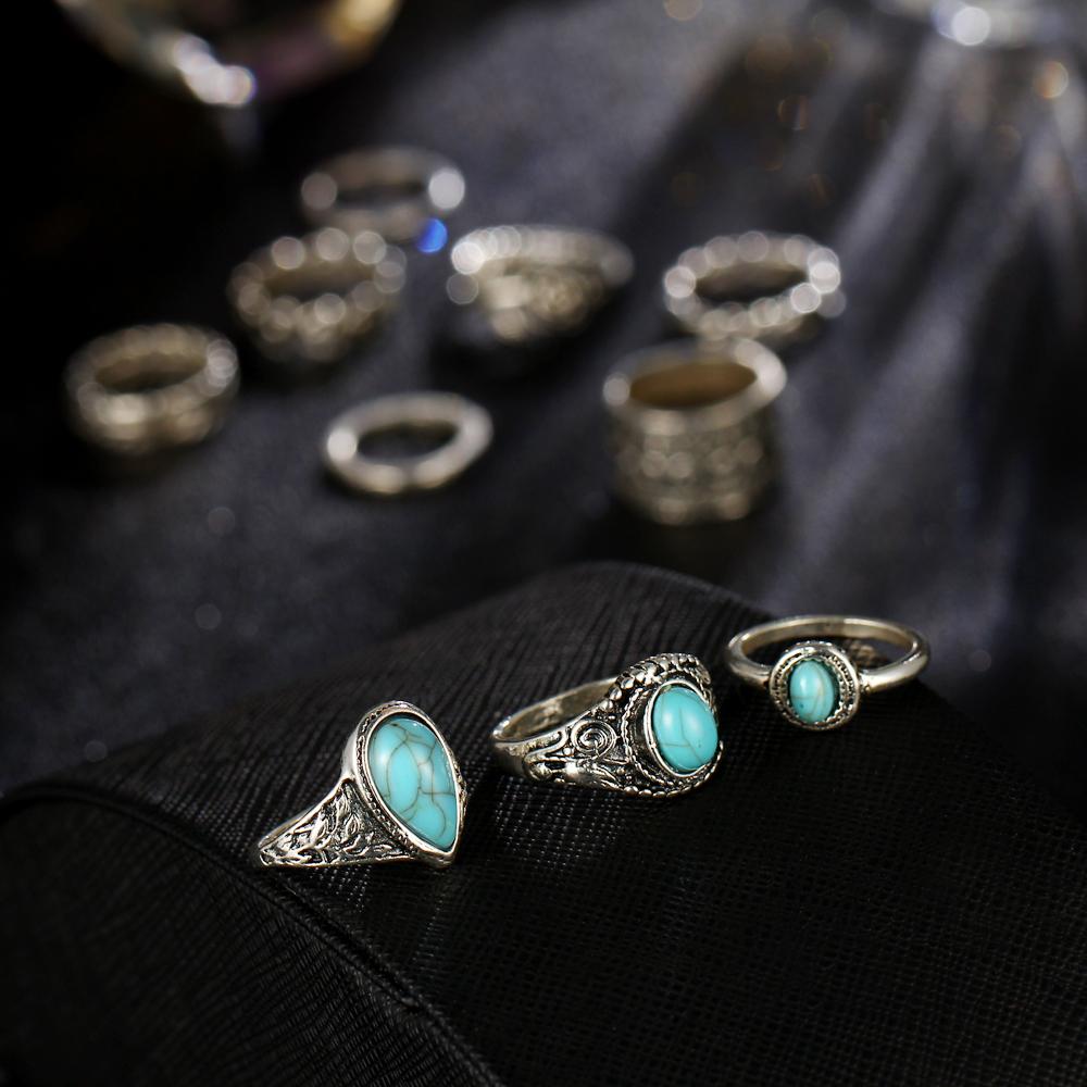 HTB1bj95RXXXXXXnXpXXq6xXFXXXu 10-Pieces Vintage Tibetan Turquoise Knuckle Ring Set For Women - 2 Colors