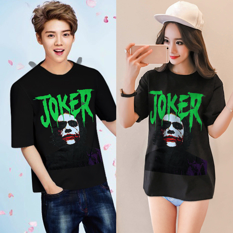 Kpop Exo Luhan Shirt Women Men Moleton Spades J Cotton Round Collar Blouses Joker Harajuku Overshirt Loose Long Tee