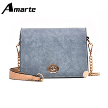 Amarte New Women Flap High Quality Vintage PU Shoulder Bags Multicolor Solid Simple Woman Crossbody Bag Bolsa De Hombro