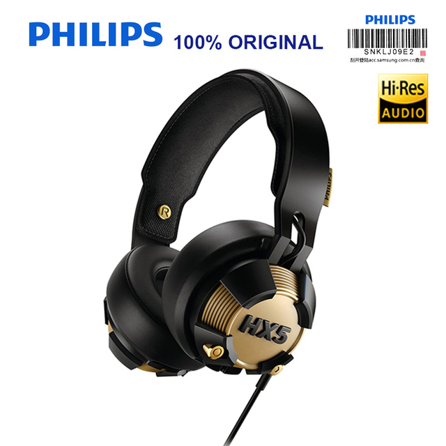 philips shx50 christmas gift with wire control led lights shine game earphones for computer phone game