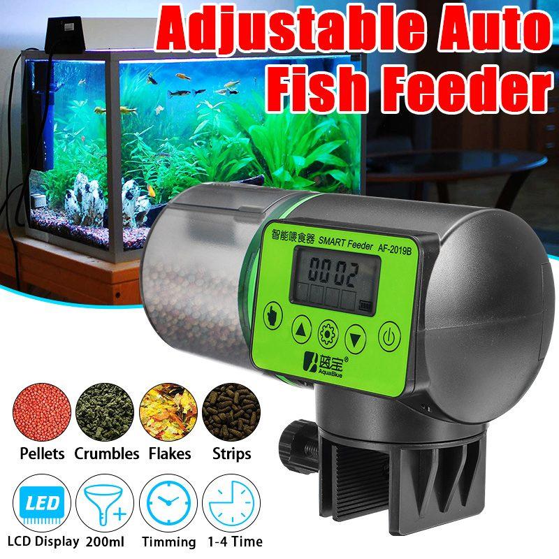 Distributeur automatique de nourriture pour poissons d'affichage à cristaux liquides distributeur automatique de nourriture pour poissons distributeur de nourriture poissons distributeur de nourriture pour poissons d'aquarium