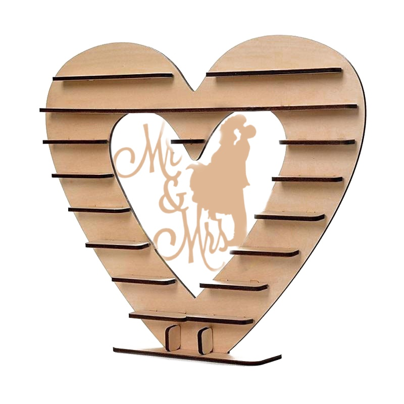 Wedding Anniversary Deco Wooden Chocolate Stand Valentines Day Heart Shape Gift Display Rack Candy Snacks Shelf Birthday PartyWedding Anniversary Deco Wooden Chocolate Stand Valentines Day Heart Shape Gift Display Rack Candy Snacks Shelf Birthday Party