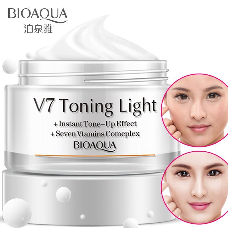 Lazy Cream V7 Toning Light Whitening Control de ulei hidratant Brighten Skin Skin 50ml Concealer Nud Makeup Face Cream