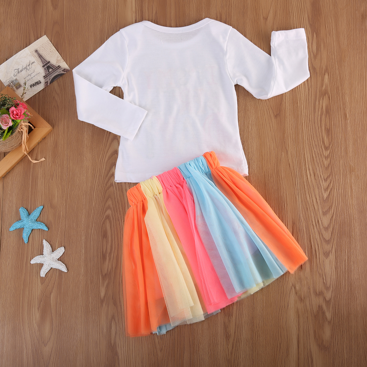 2ba611bf1 2Pcs Baby Girl Kid Toddler Long Sleeve T shirt+Lace tutu Skirt Dress Outfit  Sets Birthday Clothes-in Clothing Sets from Mother & Kids on Aliexpress.com  ...