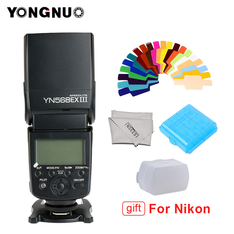 YONGNUO YN568EX III YN568-EX III Wireless TTL HSS Flash Speedlite per Canon 1100d 650d 600d 700d per Nikon D800 D750 d7100