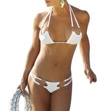 Hot Sexy Bikini Three Point Unpadded Swimsuit Beach Bathing Suit Swimming Sandbeach Breathable Biquini Monokini Set  BHU2