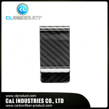 2016 Promotion Real Carbon Fiber Money Clip Glossy – Genuine 3K Twill- Credit Card Business Wallet