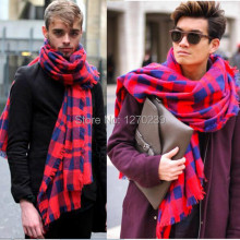WJ47 2014 Autumn Winter Men Imitation Cashmere Burrs Cape Plaid Blanket Tartan Scarf Scarves Women Shawls Free Shipping