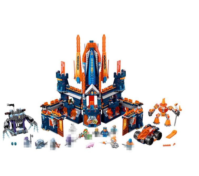 Lis New 14037 Nexus Knights King Knighton Castle Model Building Blocks DIY Bricks Toys For Children Compatible with 70357 lepin 14004 knights beast master chaos chariot building bricks blocks set kids toys compatible 70314 nexus knights 334pcs set