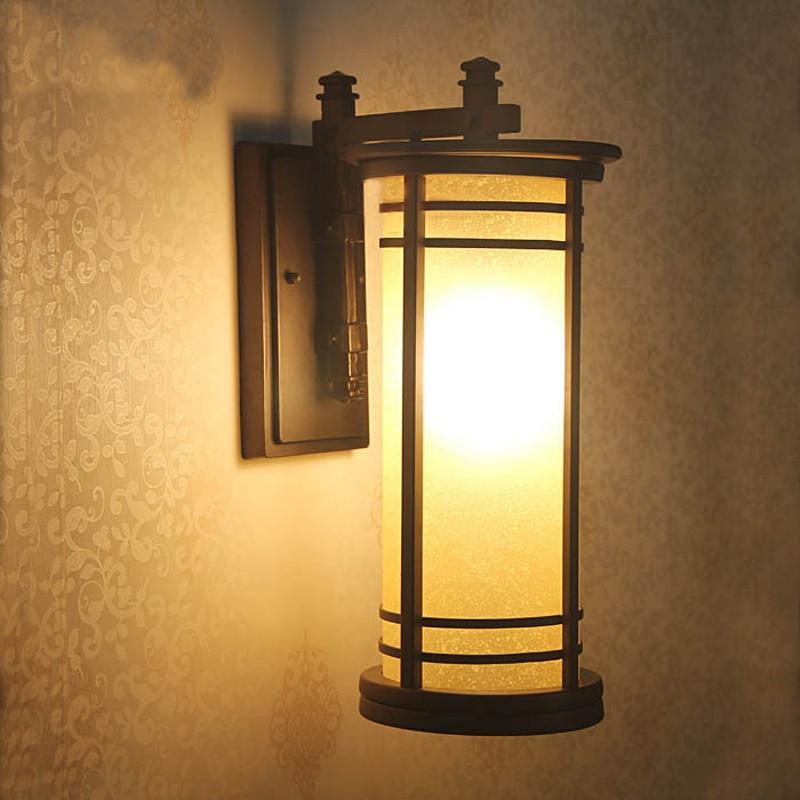 Classical Chinese Outdoor lighting wall lamps villa cortyard led wall sconce waterproof garden landscape lighting vintage lamps смеситель для умывальника argo echo 35 04