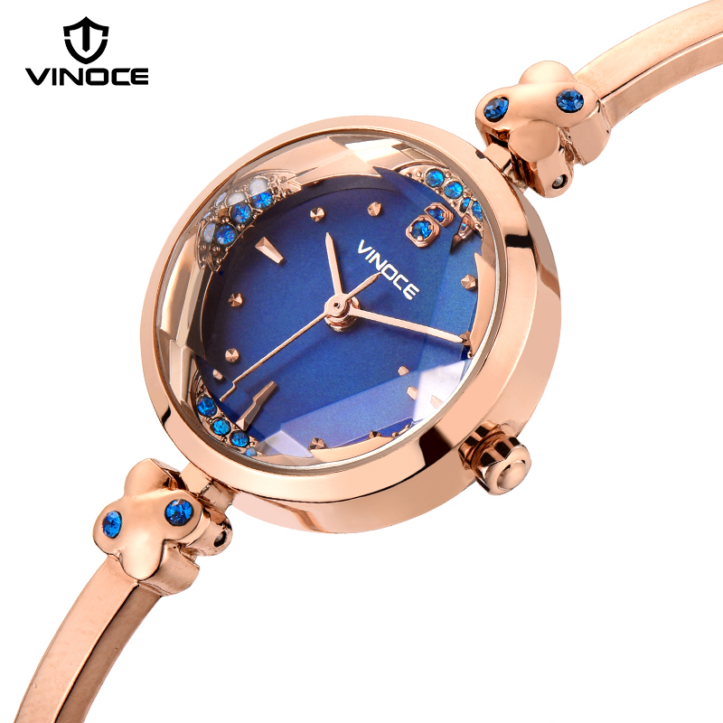 VINOCE Brand Fashion Watch Women Luxury Gold Bracelet Watches Women Clock Relogio Masculino 2018 New Thin Lady Dress Watch #9660 bluetooth link car kit with aux in interface & usb charger for vw bora caddy eos fox lupo golf golf plus jetta passat polo