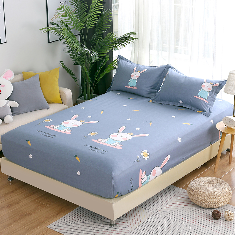 Hot Sell Luxury Fashion Cartoon Rabbit Bed Sheet Sets 100 Cotton Twin Full Queen King Size