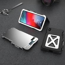 Оригинальный чехол для телефона для iPhone XS MAX, роскошный стальной металлический флип-чехол для iPhone X/XS MAX/XR, жесткий защитный чехол