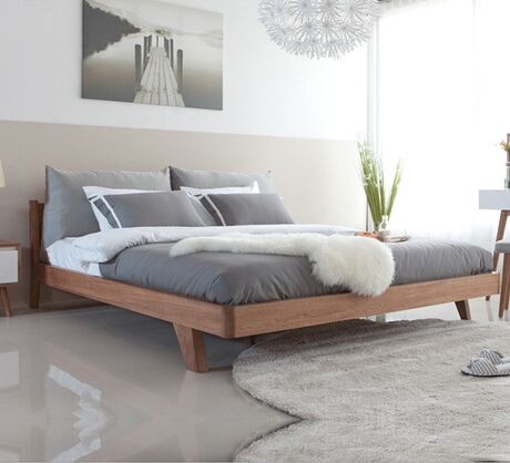 Home Bed Bedroom Furniture Nordic Simple Modern Solid Wood 1 5m 8m Double With Mattress Whole Hot In Beds From On