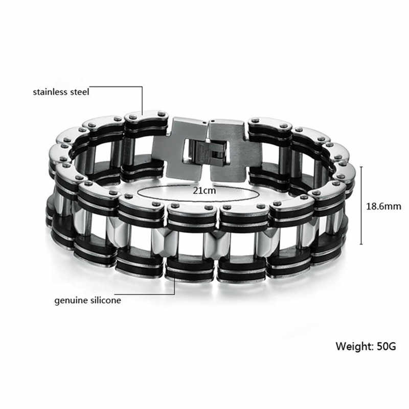 MD Rvs Biker Heren Armband Link Chain Motorcycle Fiets Ketting Armbanden Armbanden Sieraden
