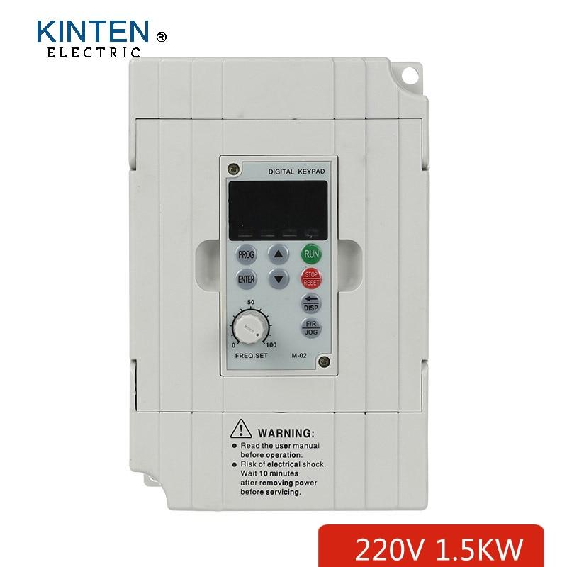 Ac Frequency Inverter Vfd Vsd Vvvf Drive 220v 1 5kw Single