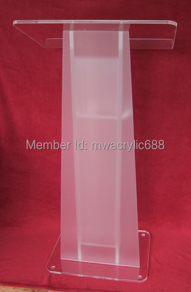 Beautiful Free Shipping HOT SELL Beautiful Simple Elegant Acrylic Podium Pulpit  Lectern Podium