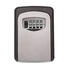 Combination key lock storage box 4-digit password lock box wall-mounted lock box is very suitable for home spare room key