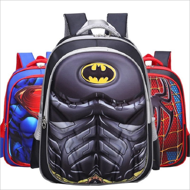 Hot High Quality Eva 3d Captain America Children School Bags Boy Spiderman School Backpack Suitable For 6-12 Years Old Kids Bag #2