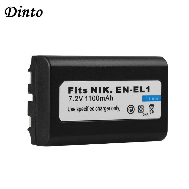 Dinto 1100mAh EN-EL1 ENEL1 EN EL1 Rechargeable Batterie pour Appareil Photo Numérique Nikon Coolpix 775 880 995 4300 4500 4800 5400 5700