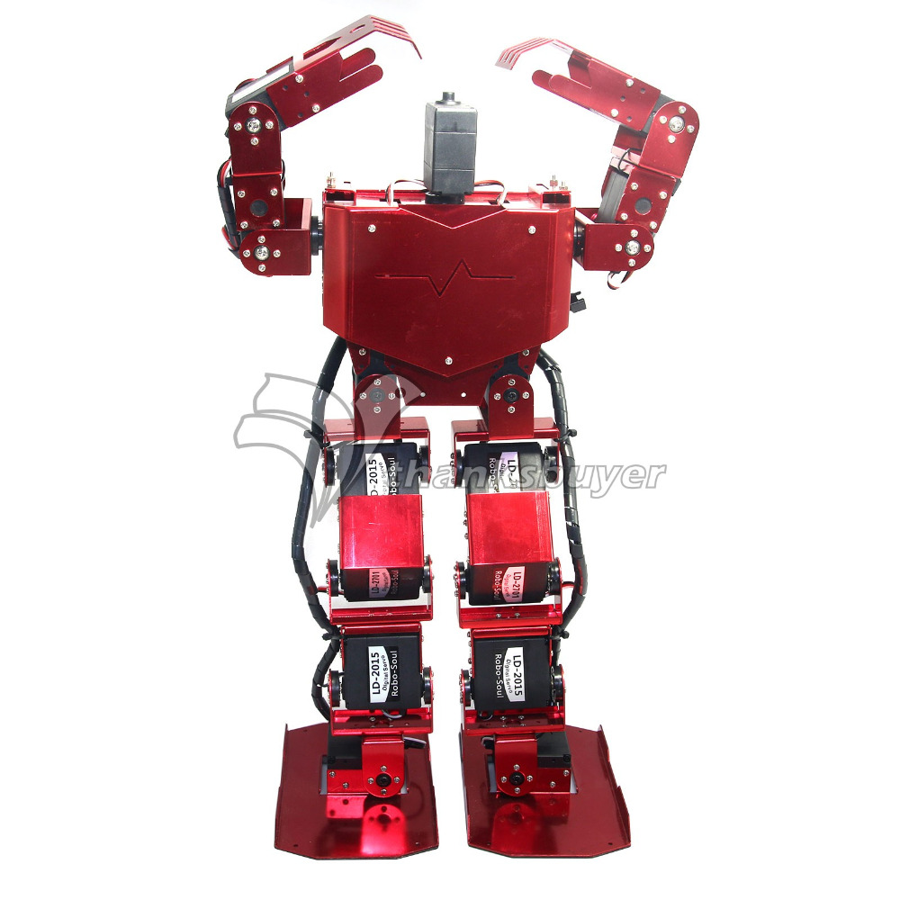 17 DOF Biped Robt Human Robotics Robo-Soul H3.0 Two Legs Aluminum Frame Kit Only No Servos for Arduino new 17 degrees of freedom humanoid biped robot teaching and research biped robot platform model no electronic control system
