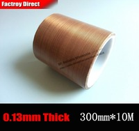 300mm 10M 0 13mm Thick 30cm PTFE High Temperature Withstand Adhesive Teflon Tape For Vacuum