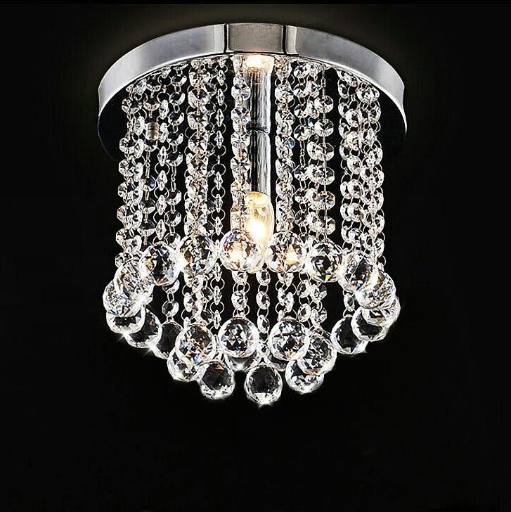 low price high quality k9 crystal ceiling light aisle living room bed room lamp study room lighting fixture 110v 220v e14